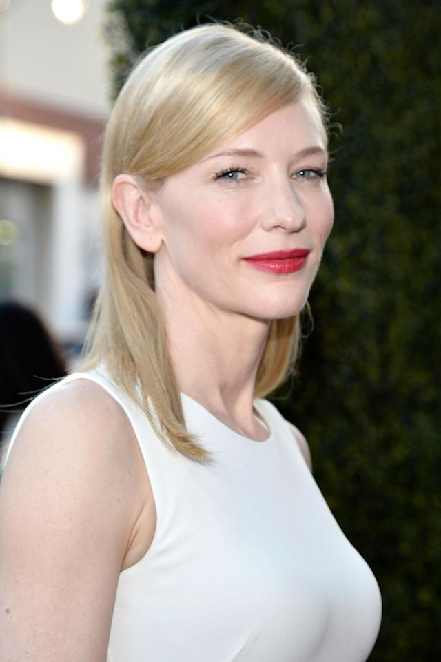 <p>Cate Blanchett arrives at the premiere of <em>Blue Jasmine</em> hosted by AFI and Sony Picture Classics at AMPAS Samuel Goldwyn Theater on July 24, 2013, in Beverly Hills. (Photo: Getty Images) </p>