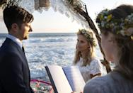 <p><strong>For Ed:</strong> To re-create this <strong>Big Little Lies</strong> scene, you'll need a sharp tuxedo and nice shoes.</p> <p><strong>For Madeline:</strong> Wear a bohemian lace dress with a charming flower crown. Complete the look with beachy waves.</p>