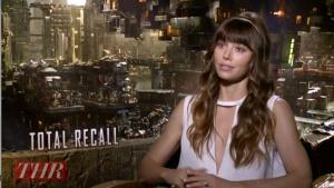 'Total Recall' Star Jessica Biel Says 'There Was Nothing Girly' About Fight Scene with Kate Beckinsale (Video)