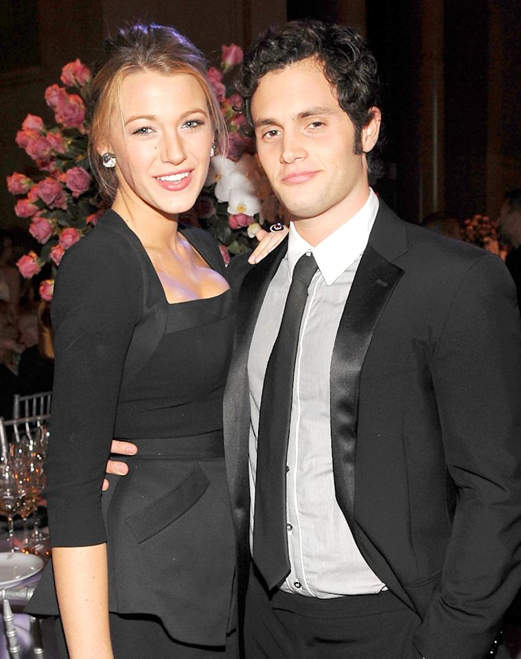"Childhood friends Blake Lively and Penn Badgley found a love connection when they were cast together in ""Gossip Girl."" Jamie McCarthy/<a href=""http://wireimage.com"" target=""_blank"">WireImage.com</a> - October 20, 2009"
