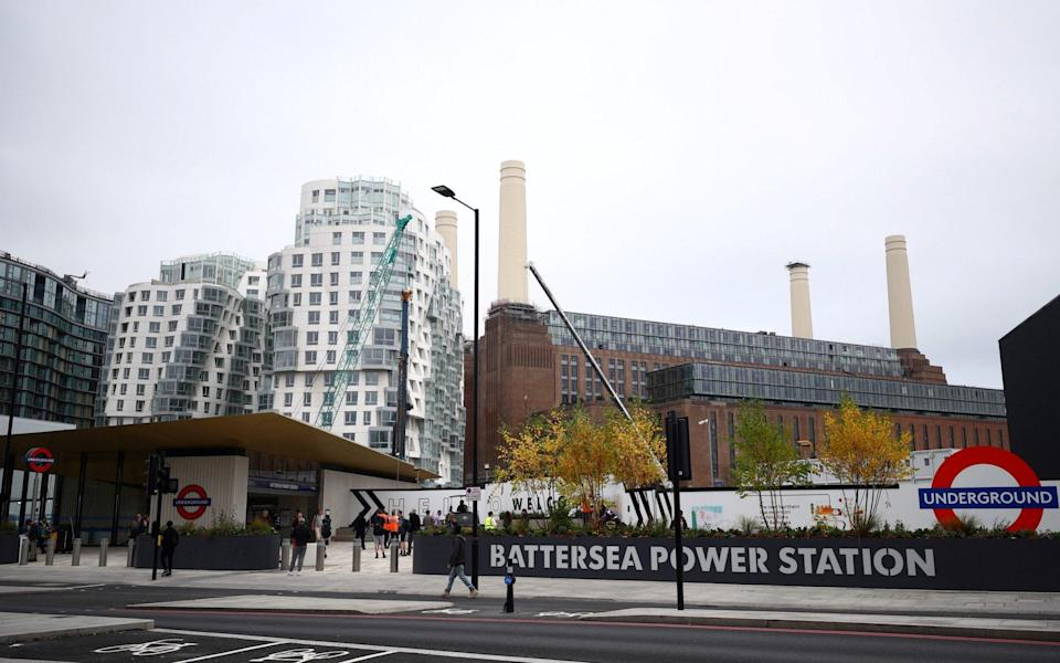 The newly opened Battersea Power Station underground station in Battersea, London - HANNAH MCKAY/Reuters