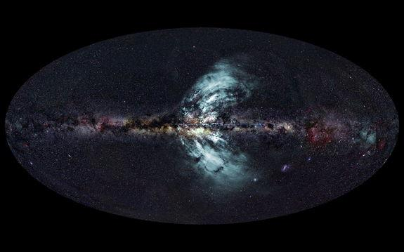 Giant Gas Geysers Erupting from Milky Way Galaxy