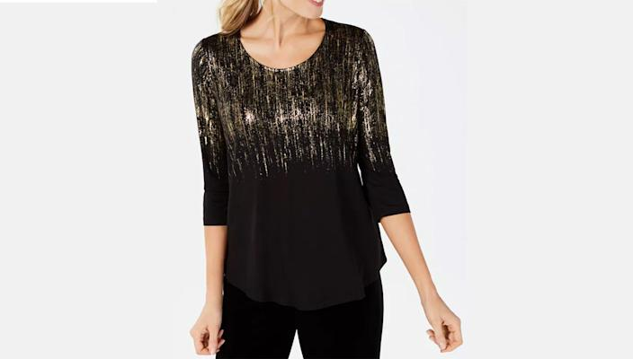 This versatile top will look great with both slacks and jeans.