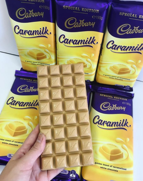 Love white chocolate? Love caramel? This bar is for you. Photo: Instagram/foodfindsgeelong