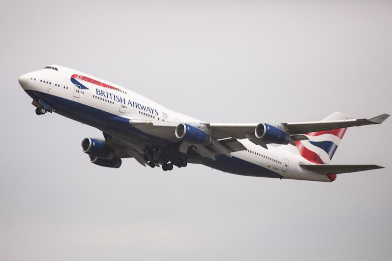 Andrew Wilkinson said he was forced to sit in a puddle of someone else's urine on a British Airways flight. The plane here is shown leaving Heathrow Airport in London, May 28, 2017.