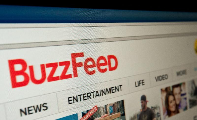 "In his first, and only news conference since the election, Donald Trump lashed out at BuzzFeed News, describing the website as a ""failing pile of garbage"" (AFP Photo/NICHOLAS KAMM)"