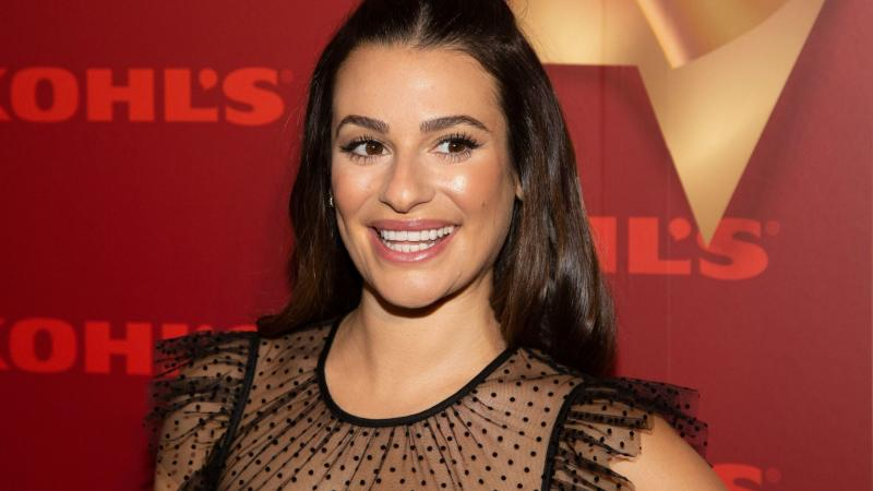 Lea Michele's Velvet Hair Bow Is Officially Your Next Holiday Party Look