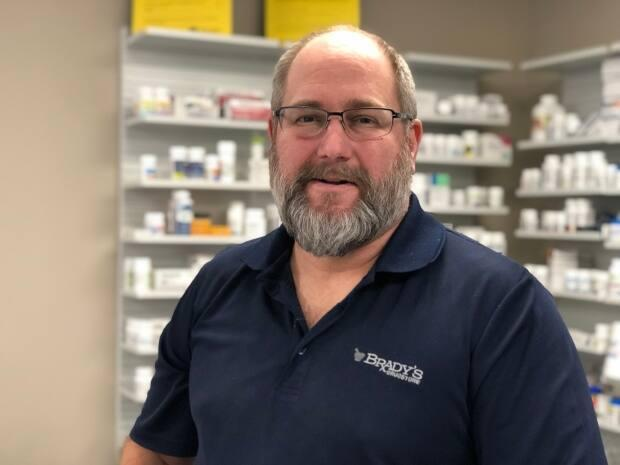 Pharmacist Tim Brady is the owner of Brady's Drug Stores in Essex, Ont., and Beller River, Ont. He says he's excited that both his stores have been selected to offer vaccines.