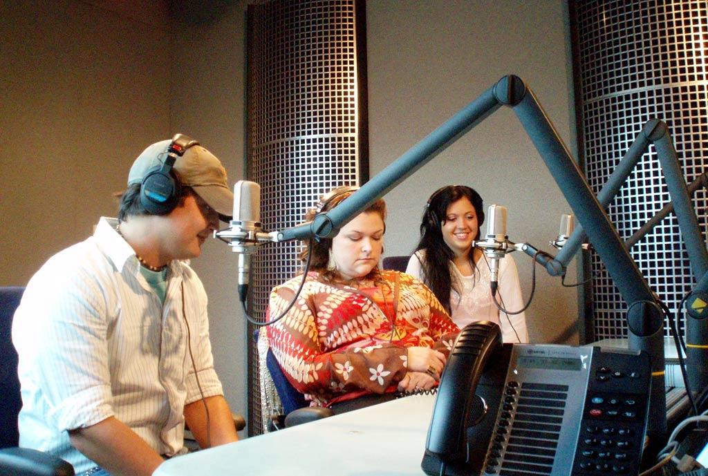 No time to stop for breakfast, Gabe, Melissa and Shawn are whisked away early in the morning to the XM Downtown Nashville Studios for their weekly interviews with John Anthony on the 'Nashville Star Radio Show.' They've done these interviews since the very beginning of the season, so the XM staff greets them like old friends and the atmosphere is casual and fun as the three finalists recap their previous performances, talk about their experiences visiting their hometowns, and reveal the songs they'll be singing during the live finale.