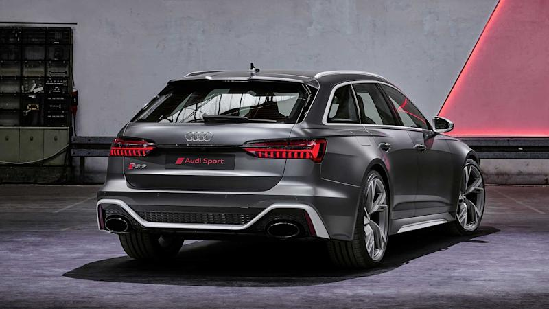 See the 2021 Audi RS6 Avant hit 176 mph on a damp Autobahn