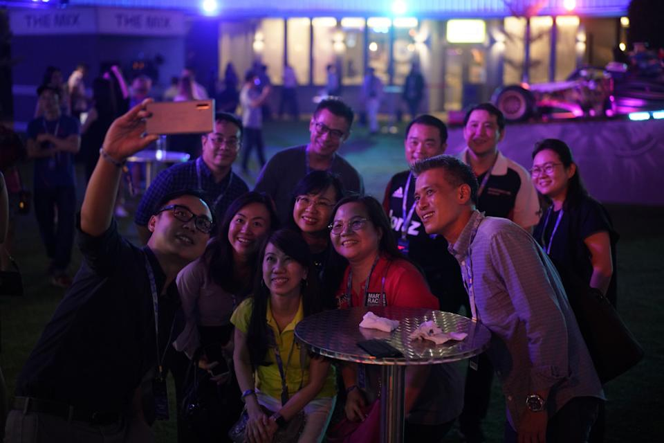 A wefie time at Singapore F1. (PHOTO: Singapore GP)