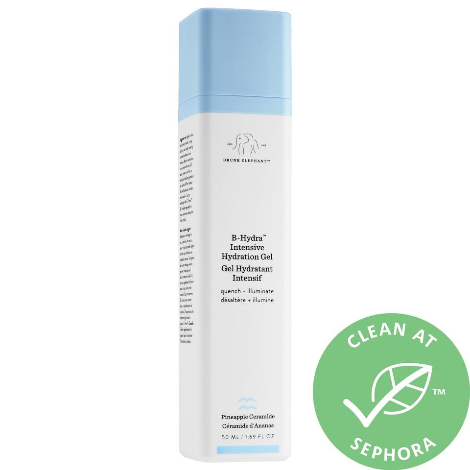 <p>For an extra boost of hydration, reach for the <span>Drunk Elephant B-Hydra™ Intensive Hydration Gel</span> ($52). The watermelon rind complex makes skin hydrated and supple while also reducing fine lines.</p>