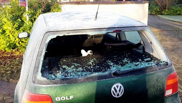 The gang caused £40,000 worth of damage (SWNS)