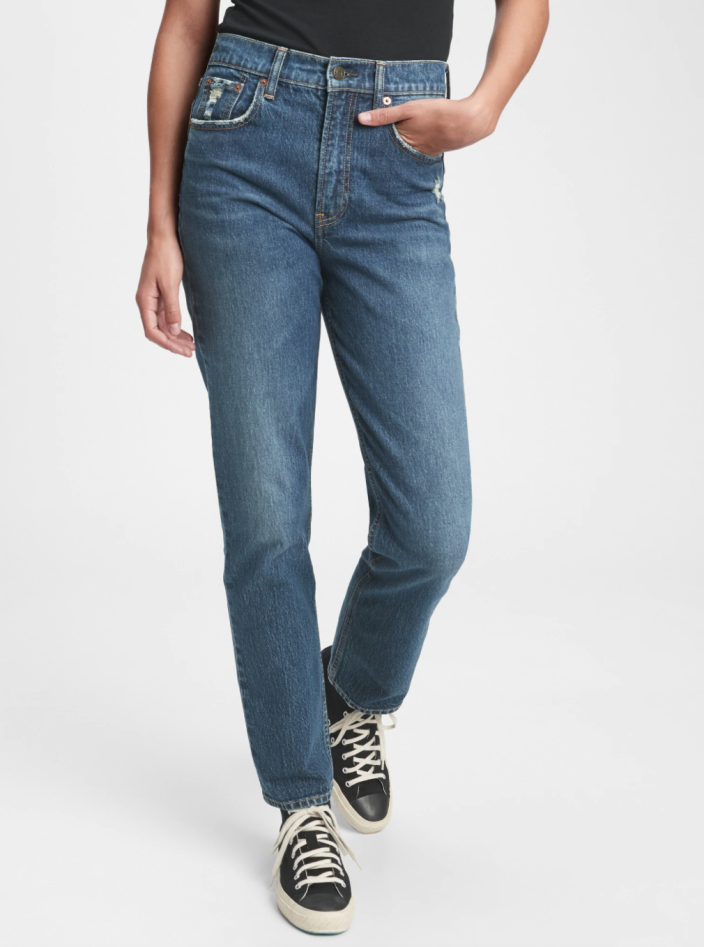 Sky High Straight Leg Jeans. Image via Gap.