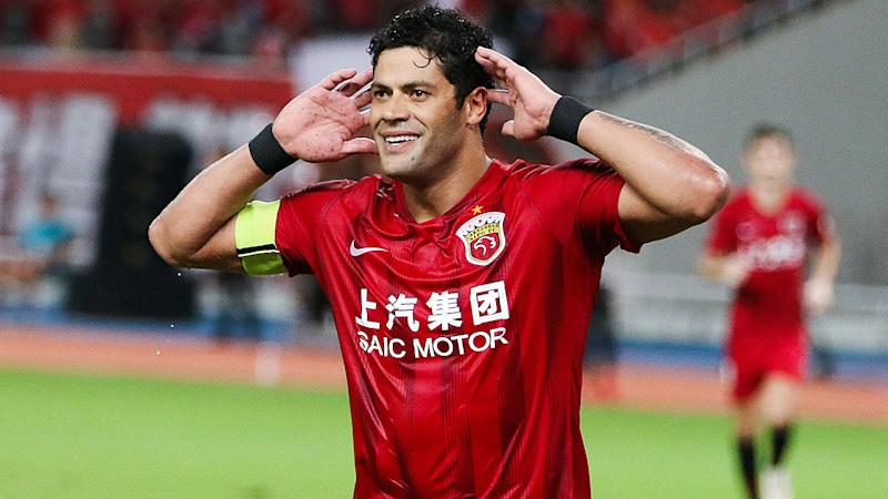 Hulk, pictured here celebrating after scoring a goal for Shanghai SIPG.