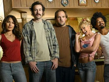 Nadine Velazquez as Catalina, Jason Lee as Earl, Ethan Suplee as Randy, Jaime Pressly as Joy and Eddie Steeples as Darnell NBC's My Name Is Earl