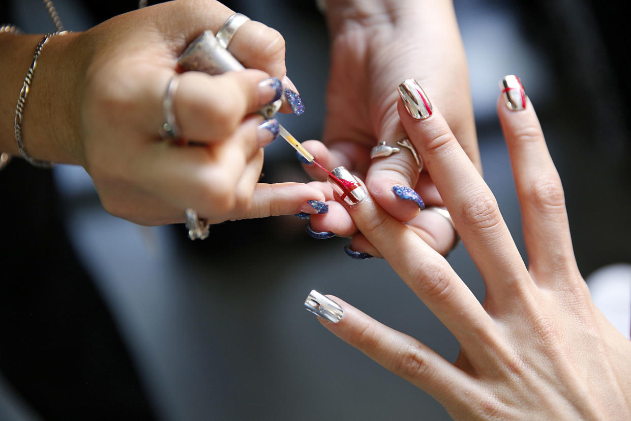 Picture of NYFW Nails Metallic