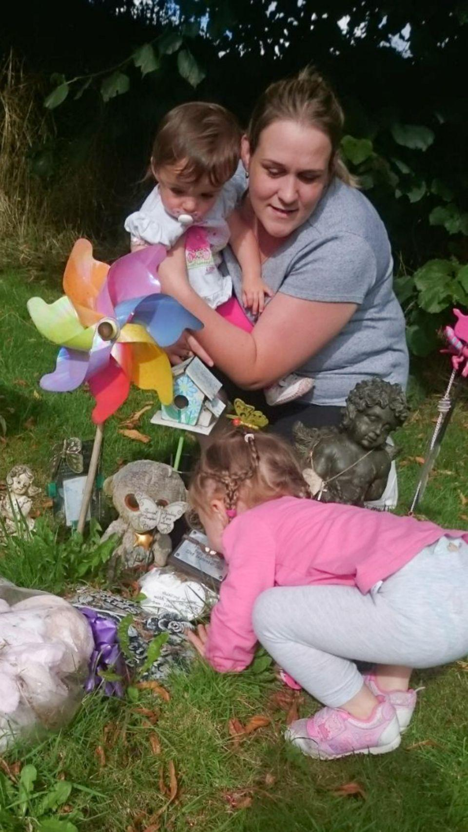 Mum Stacy has revealed her outrage at being ordered to remove her daughter's  memorial. Photo: Mercury Press
