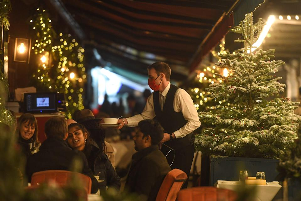 <p>Bouncing back: London's restaurants reopened yesterday</p> (Getty Images)