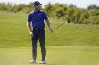 Branden Grace, of South Africa, watches a putt on the sixth hole during the second round of the PGA Championship golf tournament on the Ocean Course Friday, May 21, 2021, in Kiawah Island, S.C. (AP Photo/Chris Carlson)