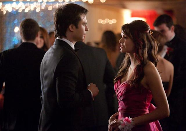 """Pictures of You"" -- Ian Somerhalder as Damon and Nina Dobrev as Elena"