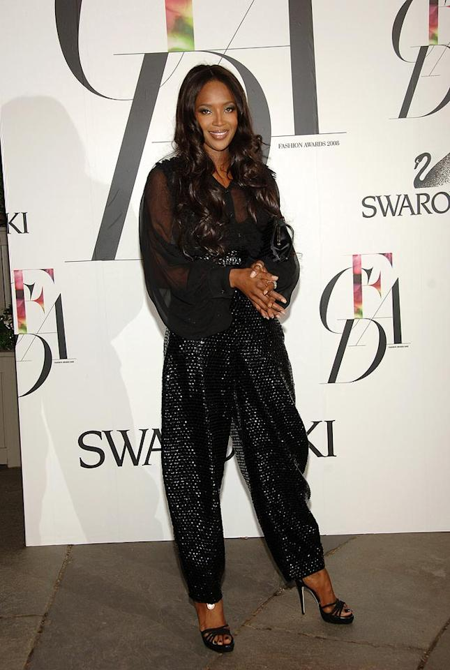 "Naomi Campbell apparently raided MC Hammer's closet for the event. At least she was comfortable! Jamie McCarthy/<a href=""http://www.wireimage.com"" target=""new"">WireImage.com</a> - September 16, 2008"