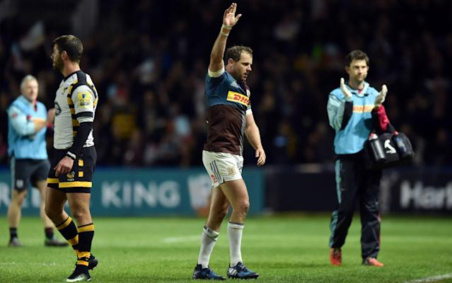 <span>Will Nick Evans guide Harlequins to a Champions Cup place?</span> <span>Credit: Rex Features </span>