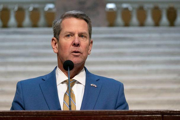PHOTO: Brian Kemp holds a news conference on the current state of COVID-19, Nov. 24, 2020, at the Georgia State Capitol in Atlanta. (Ben Gray/Atlanta Journal-Constitution via AP)
