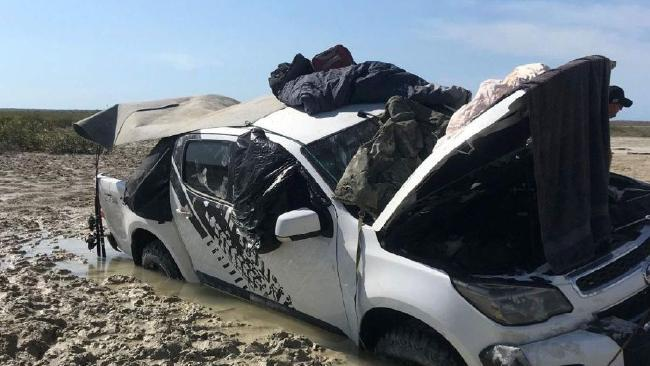 Two fishermen left stranded after their car became trapped in a bog on Friday: WA Police