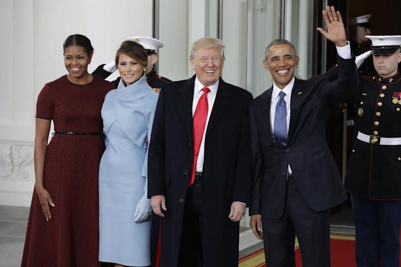 Enero de 2017: los Obama dejan paso a los Trump en la Casa Blanca.  (Photo: ASSOCIATED PRESS)