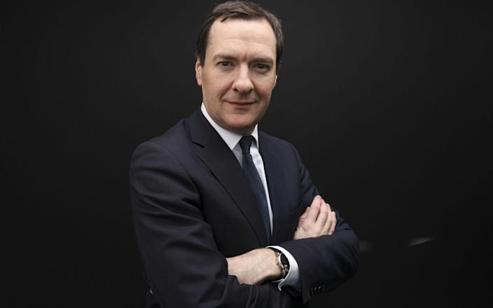 George Osborne became known as 'six jobs' thanks to his portfolio of roles which crossed over with his time as an MP - Bloomberg