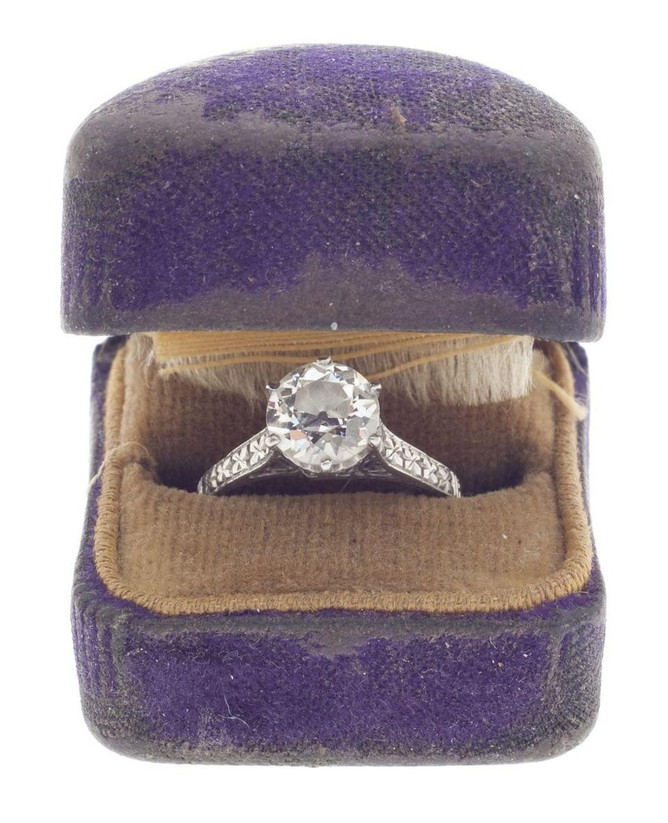 <p>The most popular stone for engagement rings during this period was the old European cut diamond. The hand cut round stone remained popular from the turn of the century until the 1930s.</p>