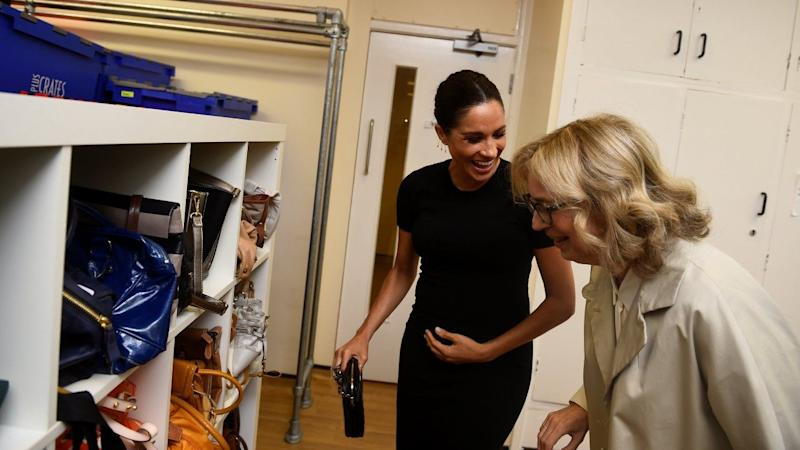 The pregnant Duchess of Sussex recalled the moment while visiting the Smart Works team in London on Thursday.