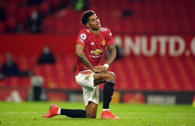 Rashford played with the injury for much of last season