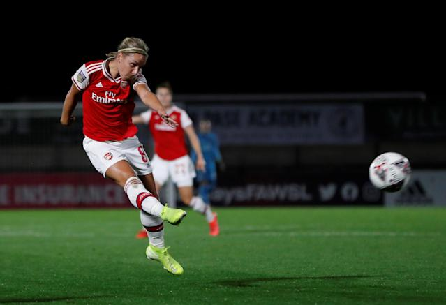 Nobbs scored her third league goal of the season against Birmingham on Sunday // Action Images via Reuters/Paul Childs