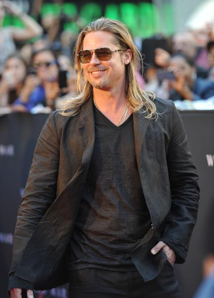 """Actor Brad Pitt attends the premiere of """"World War Z"""" in Times Square on Monday, June 17, 2013, in New York. (Photo by Evan Agostini/Invision/AP)"""