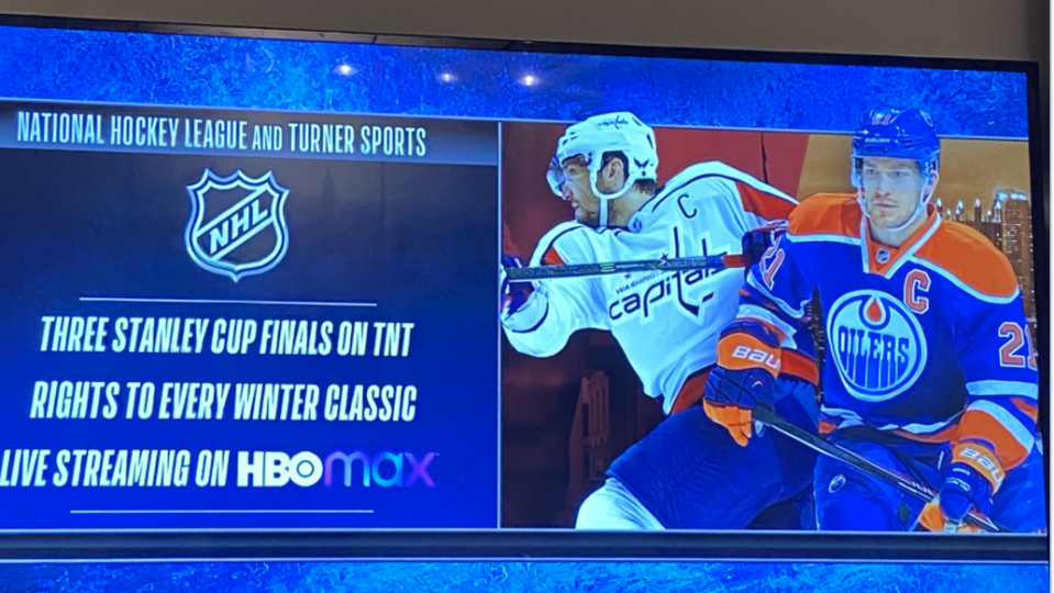 Alexander Ovechkin and Andrew Ference were used to promote TNT's new deal with the NHL, the latter included instead of Connor McDavid. (NBAonTNT)