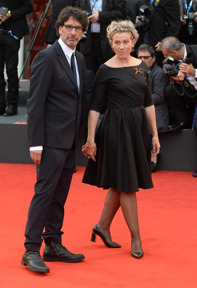 Frances McDormand and Joel Coen attend the premiere of the miniseries  <em>Olive Kitteridge</em> during the 71st International Venice Film Festival in 2014. (Photo: Alessandra Benedetti/Corbis via Getty Images)