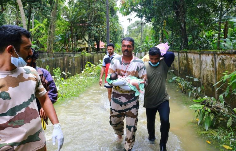 The Kerala floods have forced nearly three-quarters of a million people into relief camps