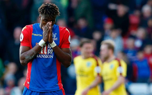 <span>Wilfried Zaha and his Crystal Place team-mates had a frustrating afternoon</span> <span>Credit: Getty Images </span>