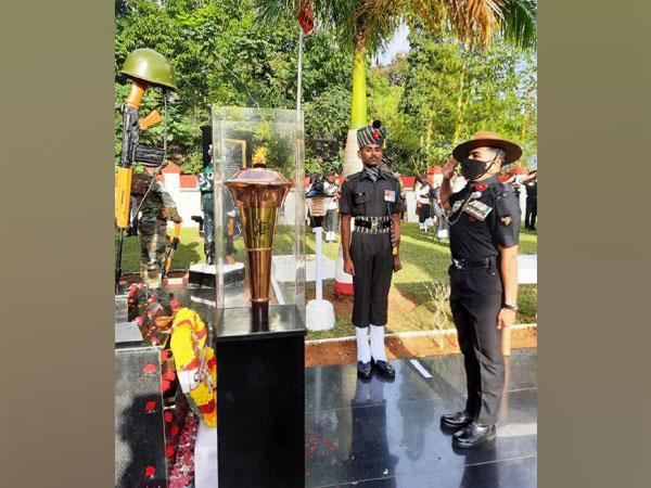 The victory torch at Trivandrum, Kerala