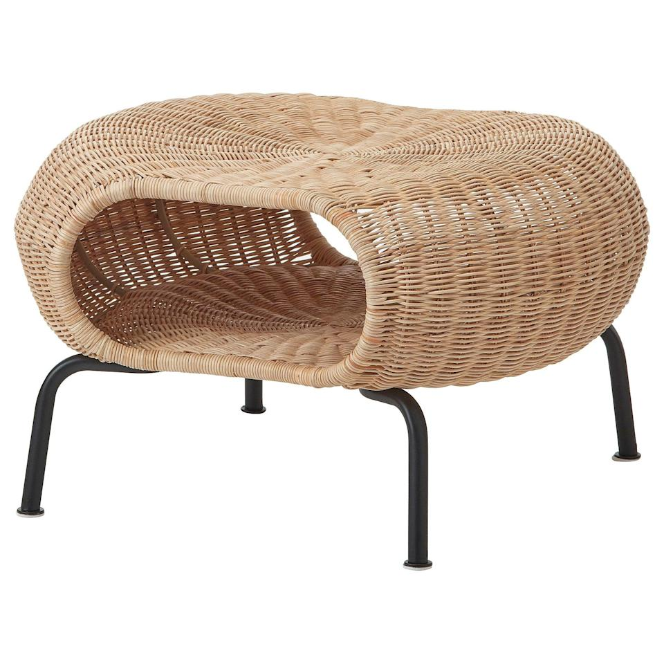 """<br><br><strong>Ikea</strong> GAMLEHULT Footstool with storage, rattan/anthracite, $, available at <a href=""""https://www.ikea.com/gb/en/p/gamlehult-footstool-with-storage-rattan-anthracite-10434309/"""" rel=""""nofollow noopener"""" target=""""_blank"""" data-ylk=""""slk:Ikea"""" class=""""link rapid-noclick-resp"""">Ikea</a>"""