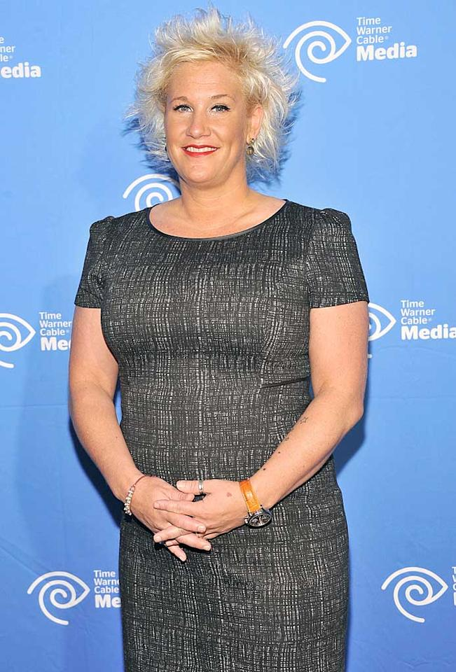 NEW YORK, NY - JUNE 07:  TV personality Anne Burrell attends the 2012 Time Warner Cable Media Cabletime Upfront at Yotel on June 7, 2012 in New York City.  (Photo by Gary Gershoff/WireImage)