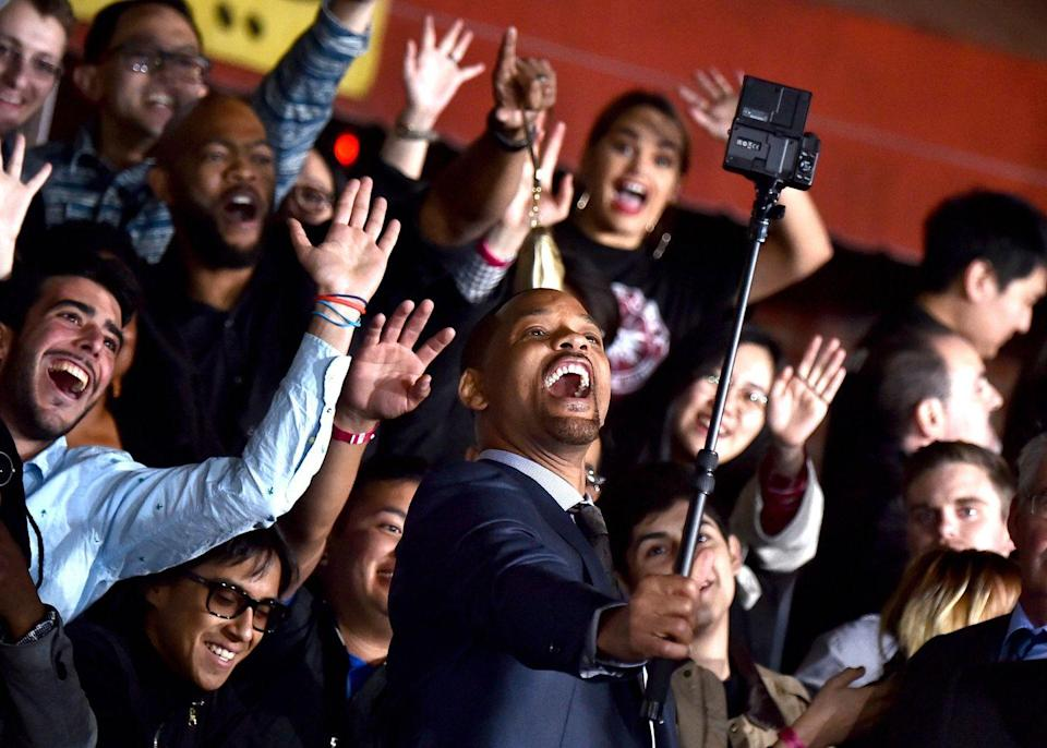 <p>Will Smith arrives at the Premiere Of Netflix's <em>Bright </em>at Regency Village Theatre on December 13, 2017 in Westwood, California.</p>