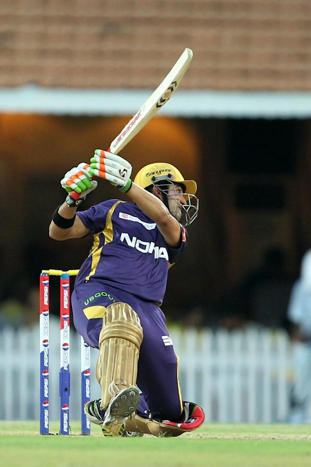 Gautam Gambhir during match 38 of the Pepsi Indian Premier League between The Chennai Superkings and the Kolkata Knight Riders held at the MA Chidambaram Stadiumin Chennai on the 28th April 2013 (BCCI)