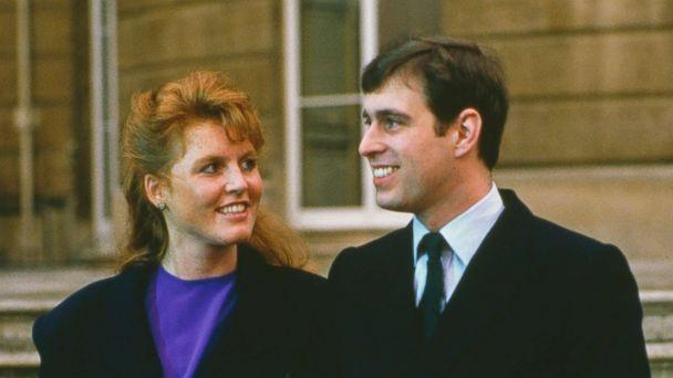 PHOTO: Prince Andrew with Sarah Ferguson at Buckingham Palace after the announcement of their engagement, London, March 17, 1986. (Tim Graham/Getty Images)