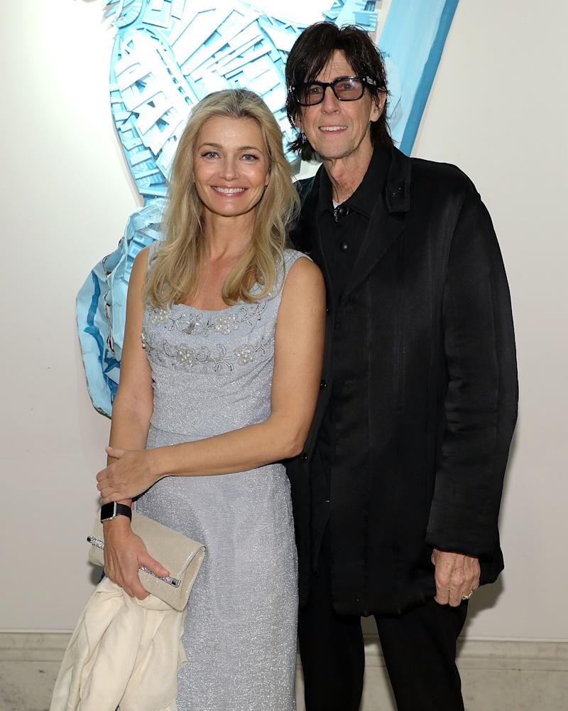 NEW YORK, NY - MAY 11: Paulina Porzikova and Ric Ocasek attend the first annual Art Students League Of NY [STartUP] Gala at Art Students League on May 11, 2018 in New York City. (Photo by Taylor Hill/Getty Images for The Art Students League of New York)