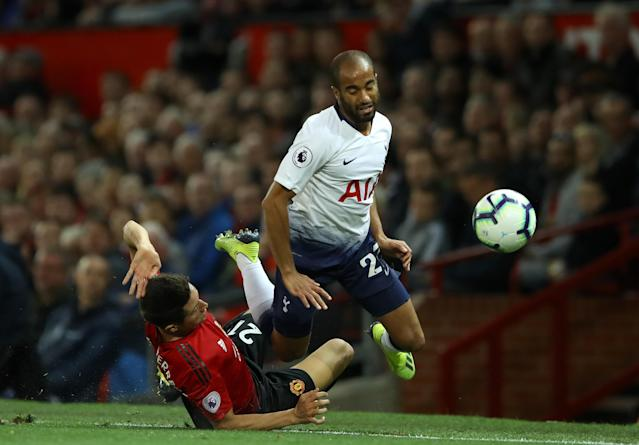 Ander Herrera played a defensive role for United but was punished by Moura and Spurs before being substituted