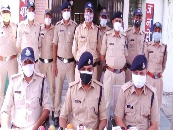 The Inodre police conducting a press conference on Wednesday (ANI).