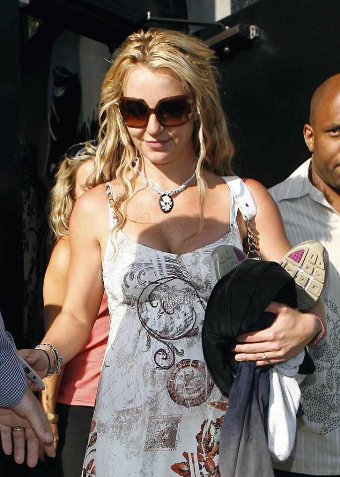 "Britney Spears was spotted coming out of a rehearsal studio in Los Felilz with several backup dancers in tow. Could she be preparing for a comeback performance at the MTV Video Music Awards? <a href=""http://www.x17online.com"" target=""new"">X17 Online</a> - August 17, 2008"